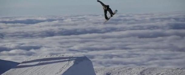 A sunset session in the snowpark Sierra Nevada