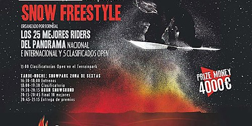 White Night Event, Snow Freestyle nocturno en Formigal
